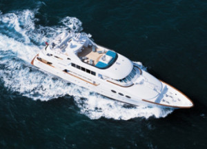 Relentless Motor Yacht for BVI Charter vacations.